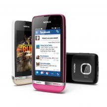 Nokia Asha 311 - Sand White, Rose Red, Dark Grey
