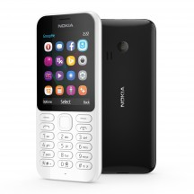 Nokia 222 - White (белый) and Nokia 222 - Black (черный)